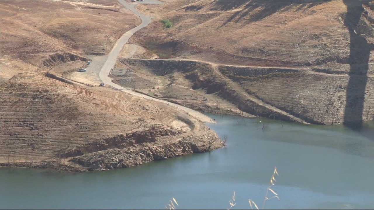 The drought is causing low water levels at New Melones Lake. The Bureau of Reclamation said the lake has not been this low in the past two decades.