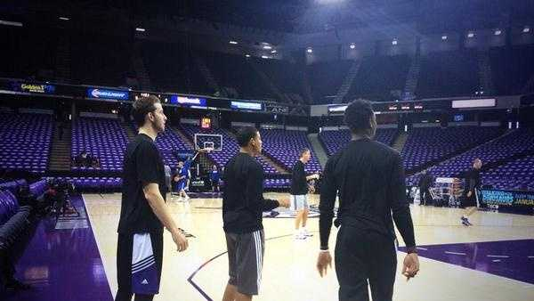Nik Stauskas, Ben McLemore and Ray McCallum warm up before the Sacramento Kings' home opener last Wednesday night vs. the Golden State Warriors (Oct. 29, 2014).