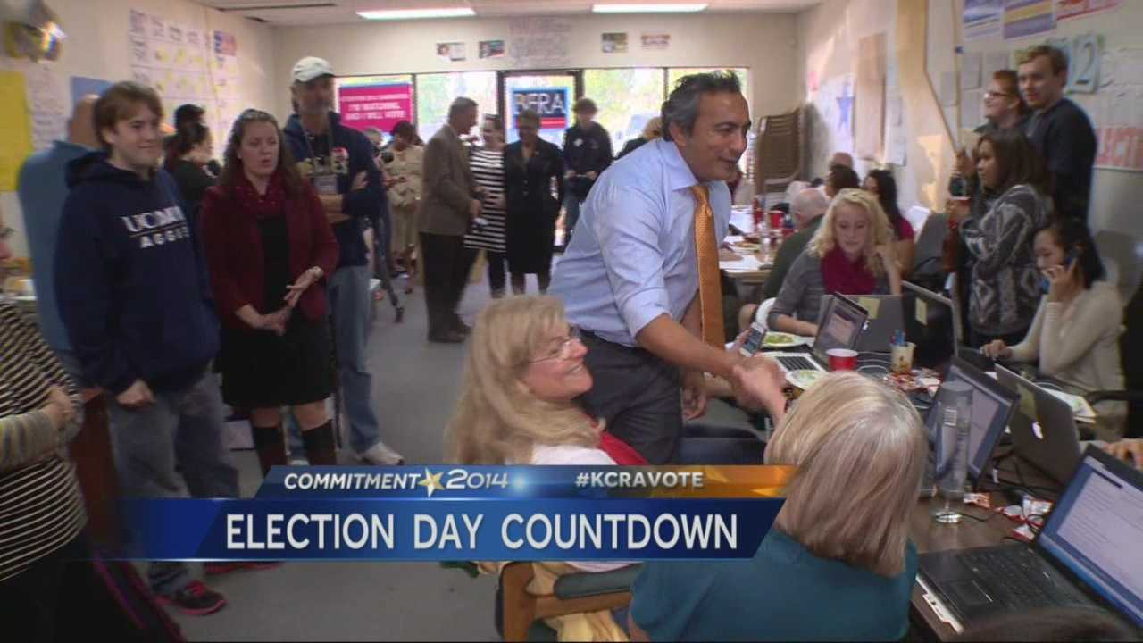 Candidates head out urging voters to head out on Tuesday and vote.