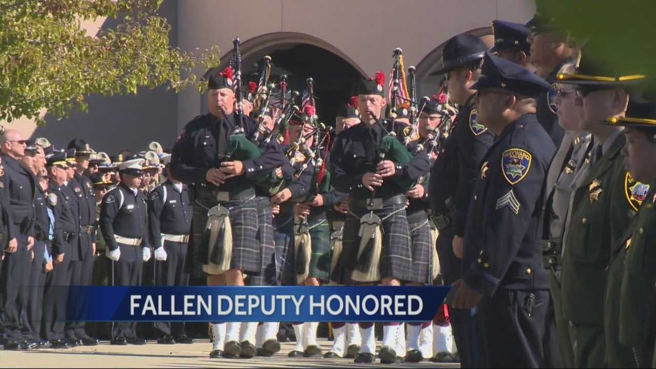 Thousands of people were in attendance for the funeral and procession for Detective Michael David Davis Jr., who was killed in the line of duty more than a week ago.