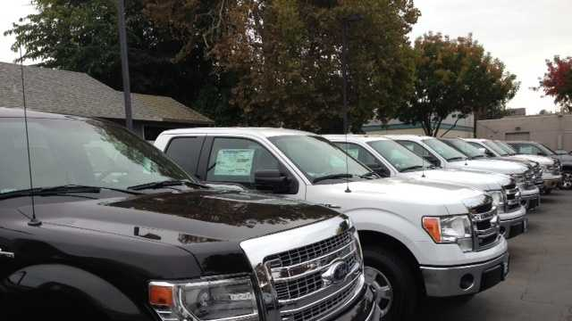 Large pickups are currently among the top sellers at Downtown Ford in Sacramento, according to the sales manager.