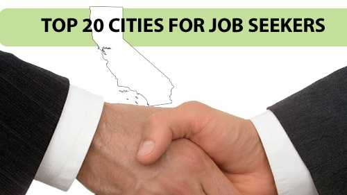 Take a look at the 20 top cities for California job seekers, according to nerdwallet.com