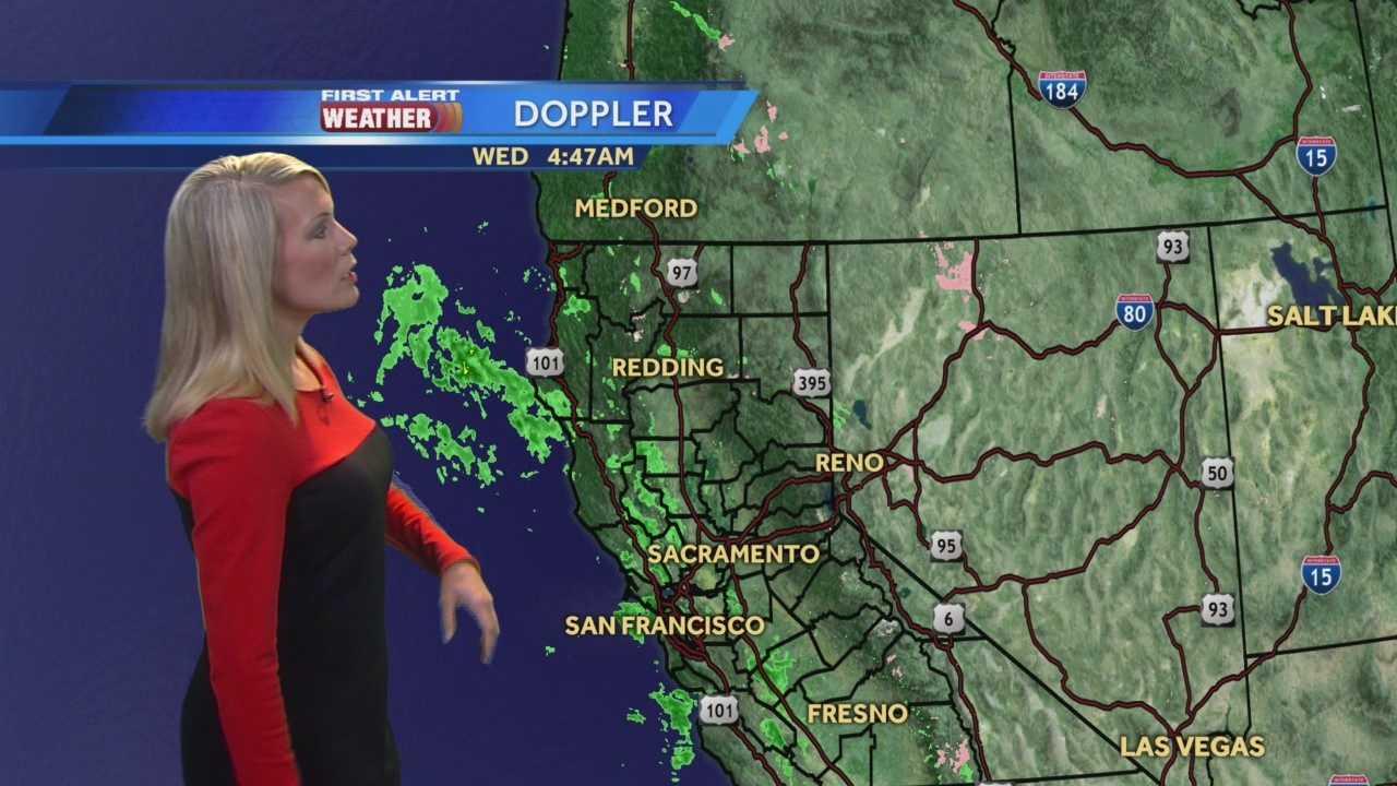 KCRA 3 First Alert Weather meteorologist Tamara Berg tracking your Wednesday rain.