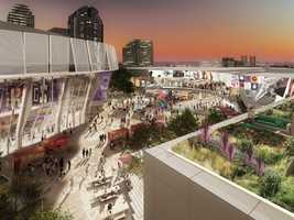 The Sacramento Kings have released the following artist renderings of the sports and entertainment complex being built in downtown Sacramento. (Nov. 26, 2014)