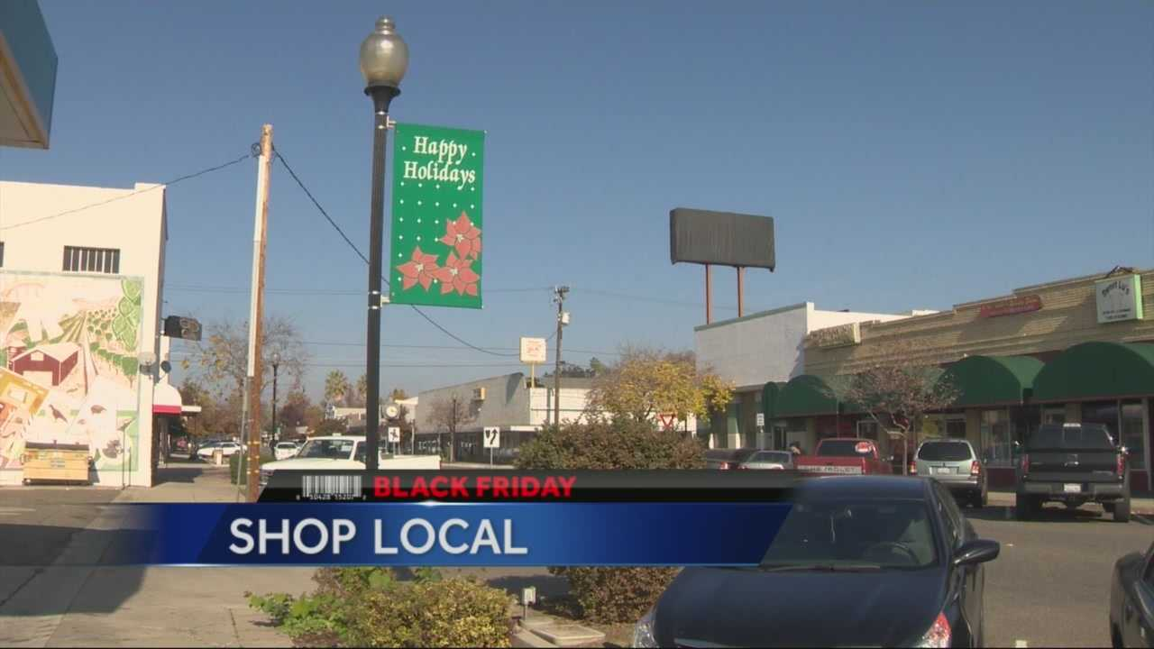 The town of Ceres is urging shoppers to spend their shopping dollars locally.