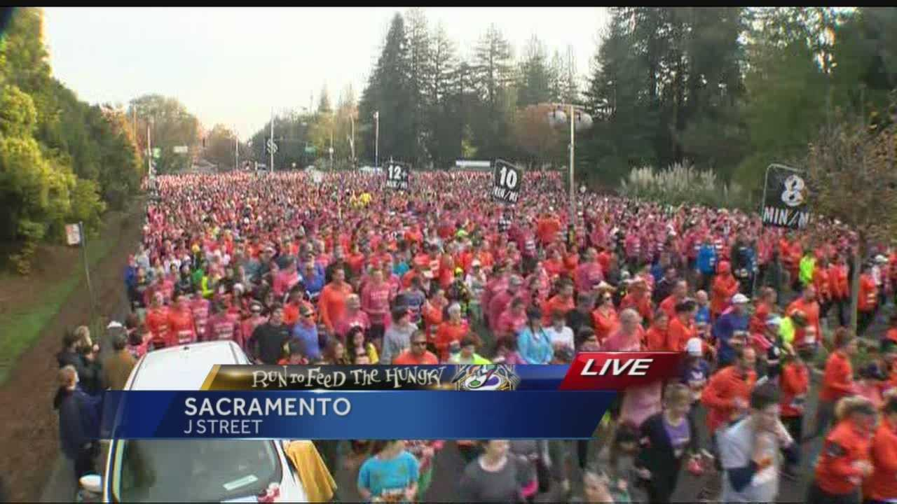 Thousands of people were out early Thanksgiving morning to run or walk at the Run to Feed the Hungry.