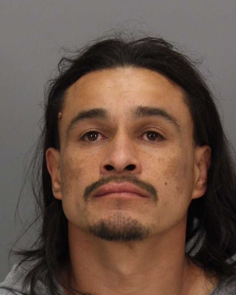 Miguel Zaragoza was taken into custody on charges of possessing a stolen vehicle and trespassing, police said.