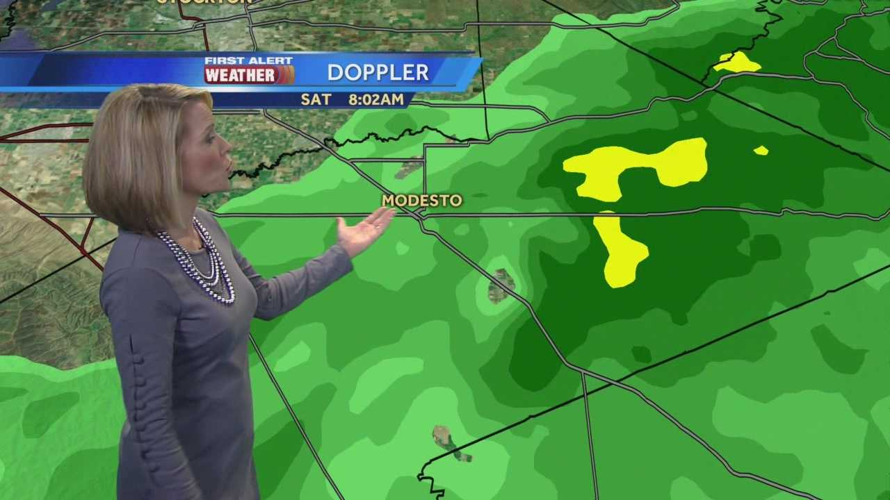 KCRA meteorologist Eileen Javora has the latest on the rain that is moving through the region on Saturday.