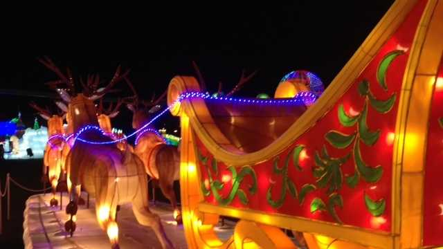 The Global Winter Wonderland light display is being featured at Cal Expo in Sacramento. (Nov. 30, 2014)