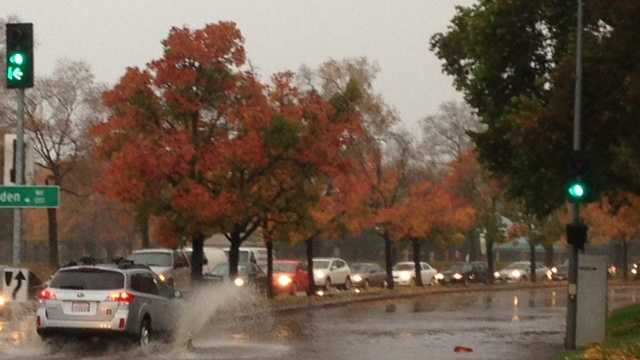 Northern California is getting a steady dose of rainfall as a storm system continues to push through the region Wednesday, causing issues for some drivers. (Dec. 3, 2014)