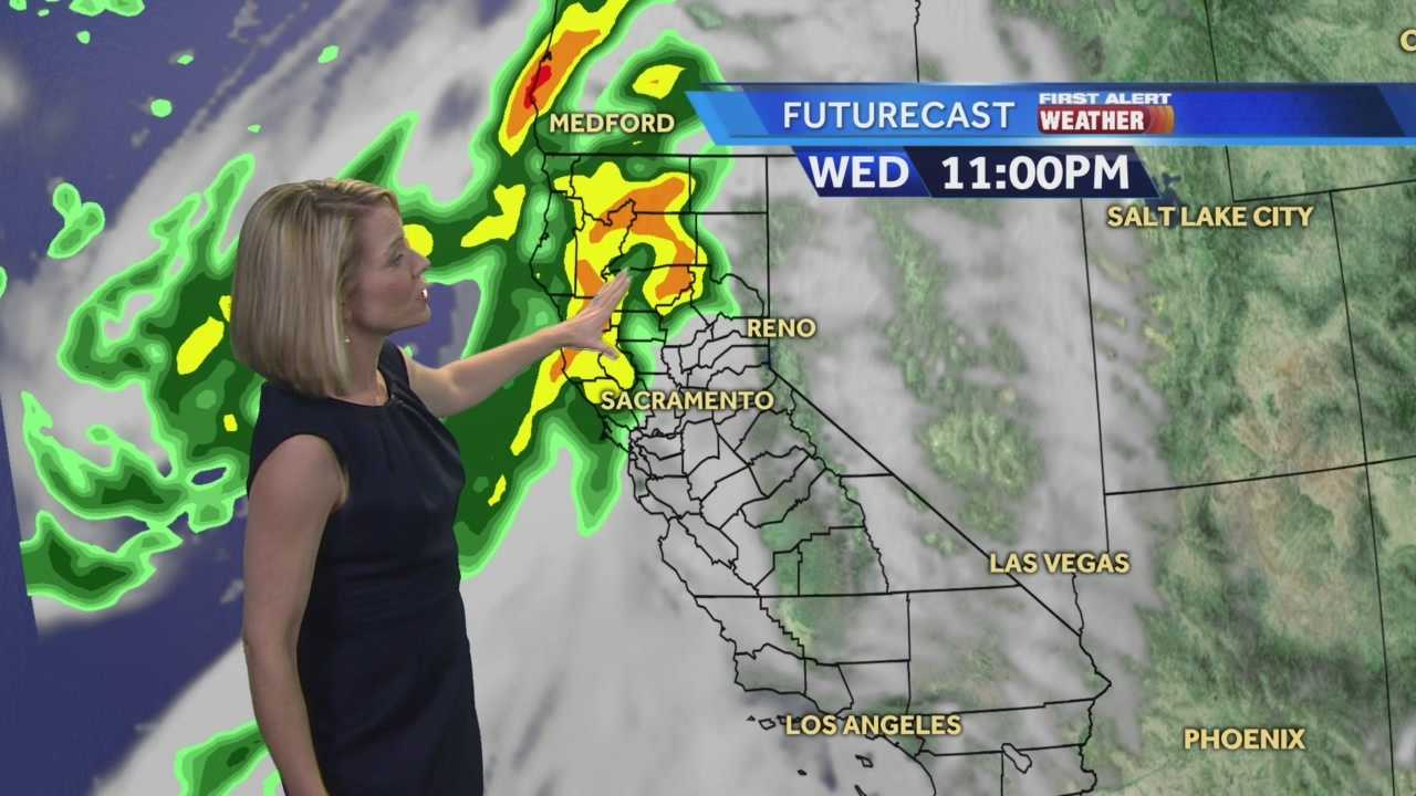 KCRA 3 First Alert Meteorologist Eileen Javora shows when to expect the rain and wind to pick up.