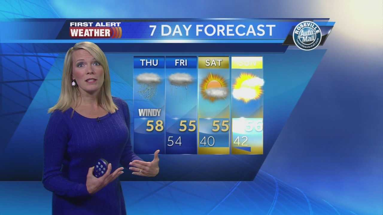 KCRA 3 First Alert Weather meteorologist Tamara Berg shows us what to expect as a large storm system enters the Sacramento region.