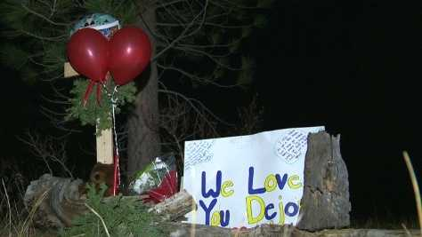 A memorial set up for Dejon Smith (Dec. 14, 2014)