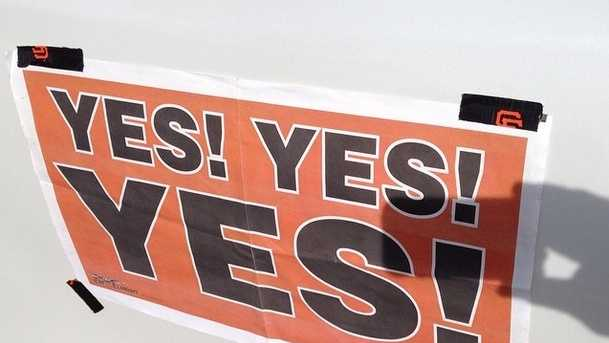 """Yes! Yes! Yes!"" was the rallying cry for the San Francisco Giants and their fans during the team's run to their third World Series Championship since 2010."