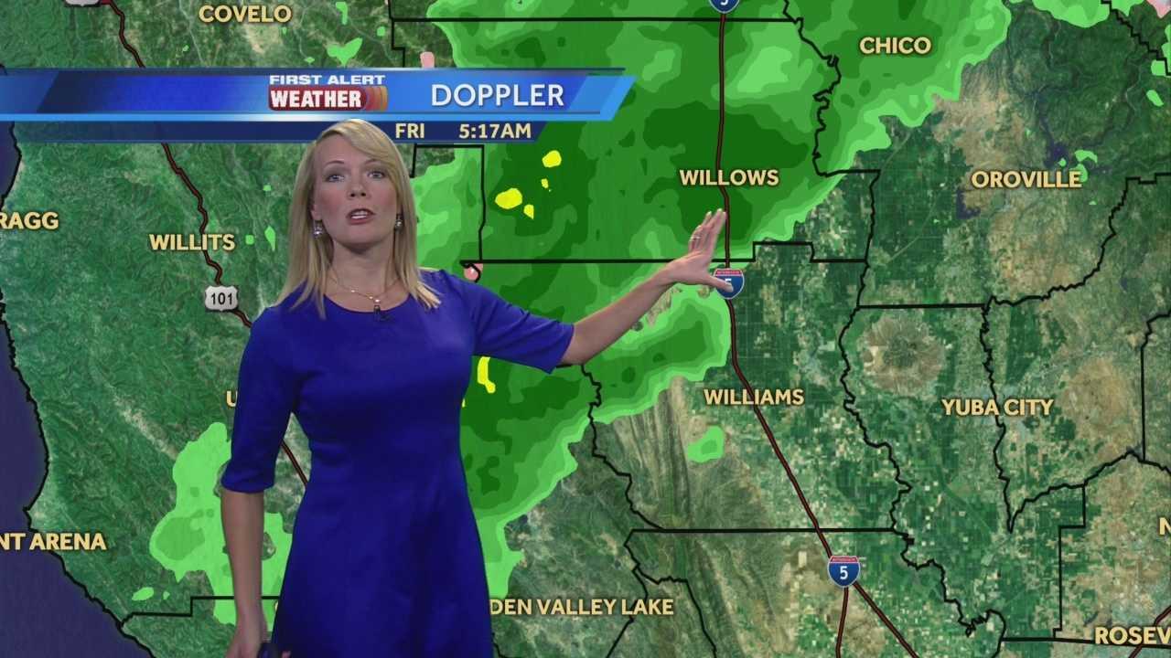 KCRA 3 First Alert Weather meteorologist Tamara Berg Tracking your morning rain.
