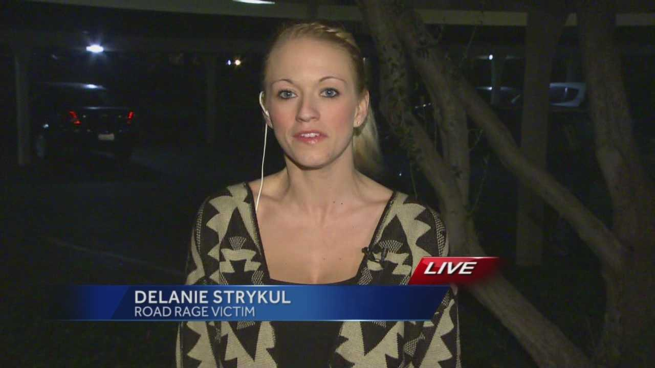 Delanie Strykul talks with KCRA's Kellie DeMarco about her horrifying road rage incident.
