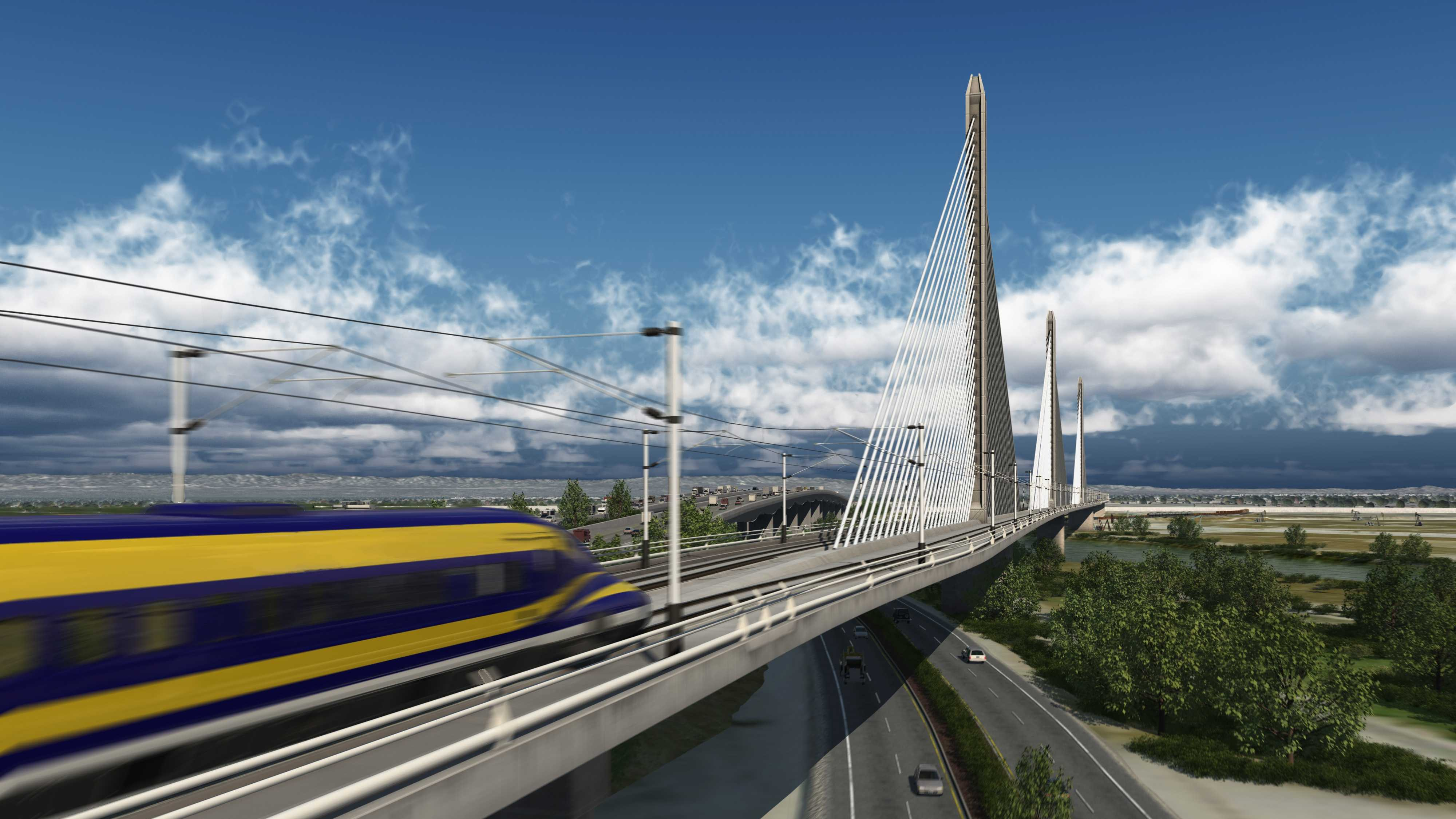 California officials are marking the start of work on nation's first high-speed train, which, when completed, would take travelers from Los Angeles to San Francisco in less than three hours.