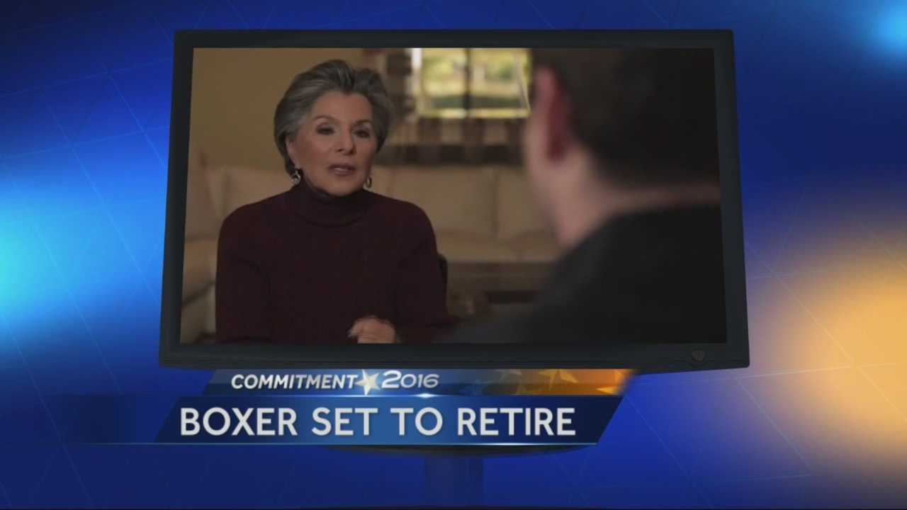 Barbara Boxer has announced she will not run for reelection in 2016.