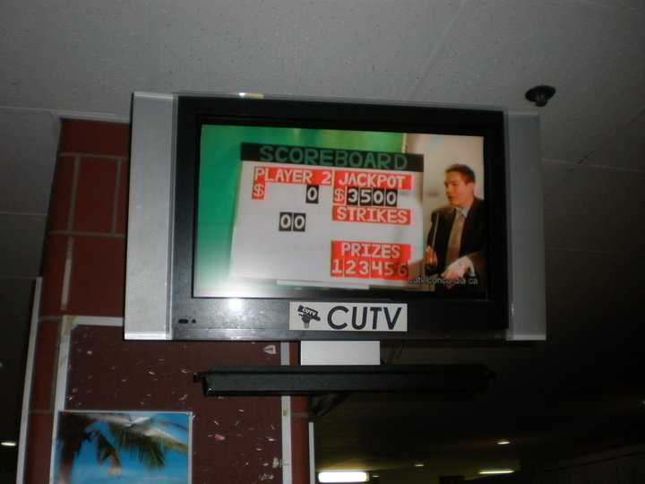 9.) I got my first start in TV doing the college broadcast at Concordia University in Montreal. Our horrible show aired on these small monitors across campus. Talk about a captive audience with the student body!