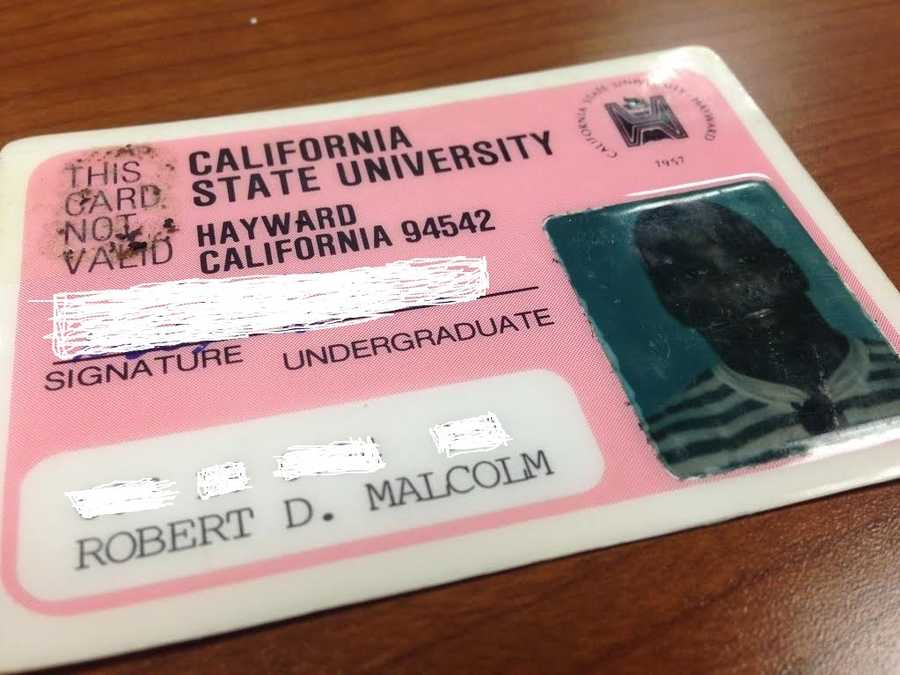 14.) I attended Cal State Hayward, which is now Cal State East Bay, so I'm no stranger to California.*Editor's note that Rob did NOT approve of my PhotoShop skills on this one. We had to blur his info and I apologize for the chicken scratch!