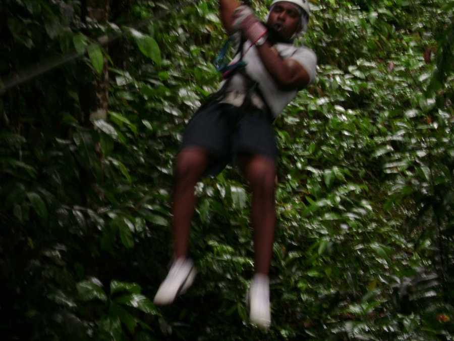15.) I do like to live on the edge -- with minimal risks, of course. This is a zipline in St. Lucia.