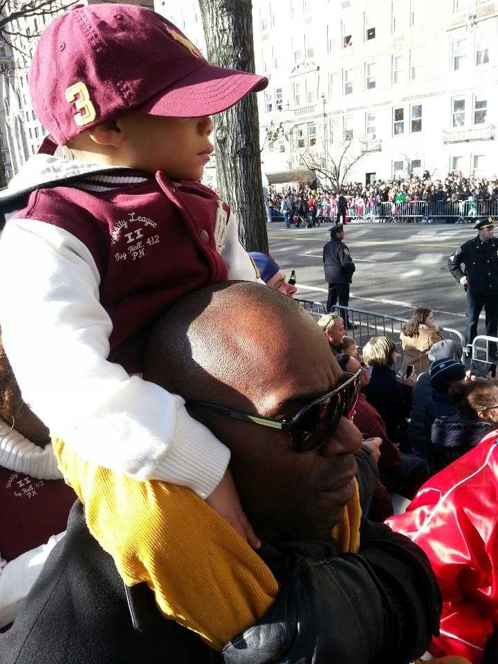 Bonus slide! I spend time playing part-time dad with my young cousin -- here we are at the Macy's Thanksgiving Day Parade. He's a handful!