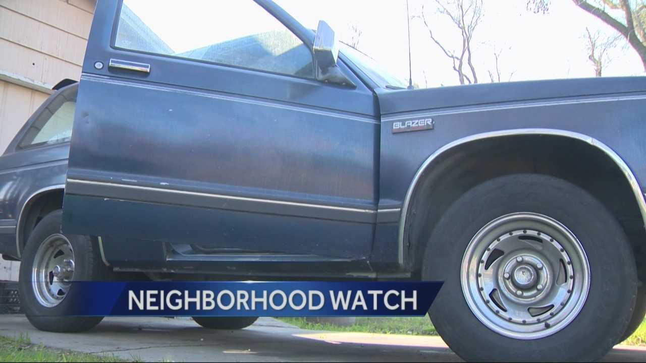 An alert neighbor helped Modesto police nab a man suspected of breaking into 2 neighborhood cars.