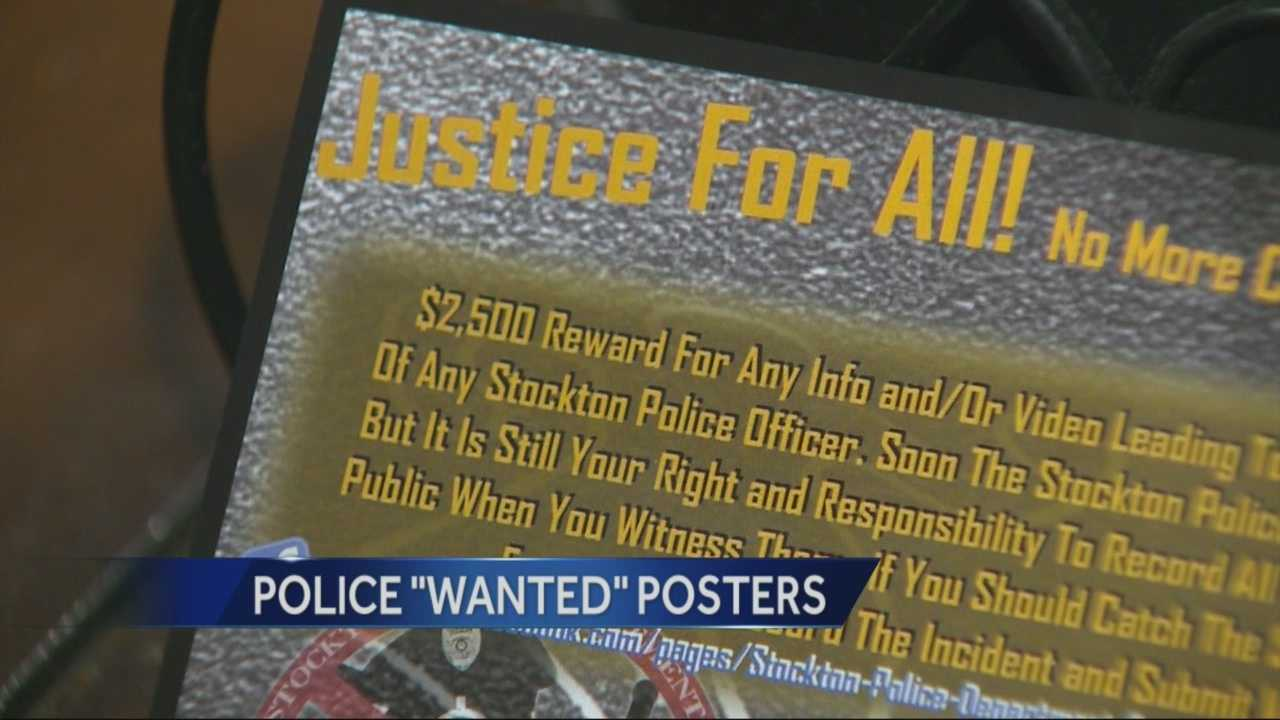 A controversial flyer in Stockton offering a reward for information that leads to police officers being convicted or fired over crimes.