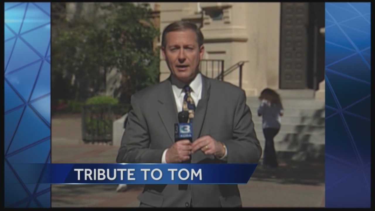 Some familiar faces from KCRA's past say farewell to Tom DuHain, who retired Friday after 46 years at Channel 3.