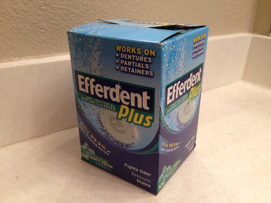 18.) Denture cleaner (limit 2)Cost: $2.80