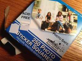 17.) Photo album adhesive (limit 4)Cost: $2.75