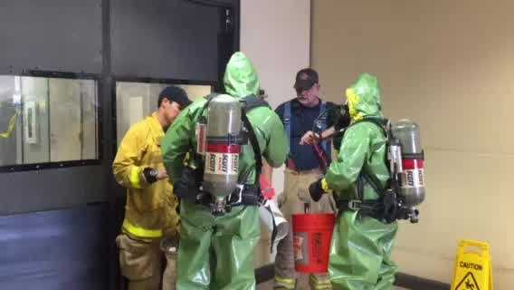 Sacramento Metro Fire crews were called out to the Franchise Tax Board building after receiving a report of a suspicious substance. That brown substance, which was in a package, turned out to be dog feces.