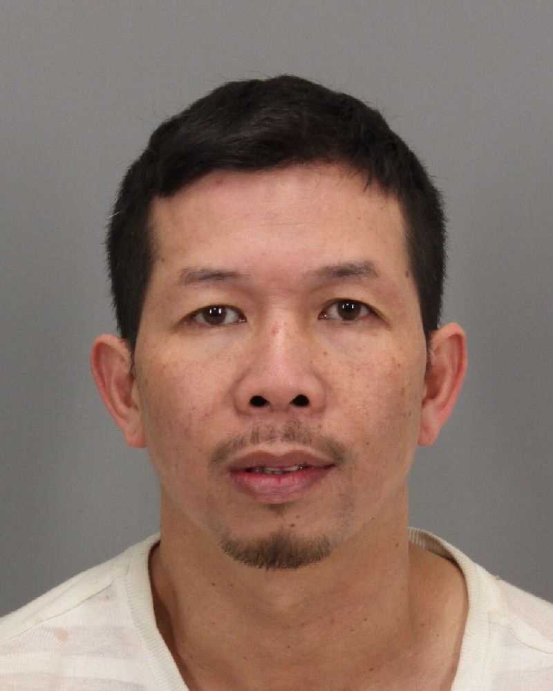 Phuc Nguyen was taken into custody on charges of theft of utilities and illegal cultivation of marijuana for sales, according to sheriff's deputies.