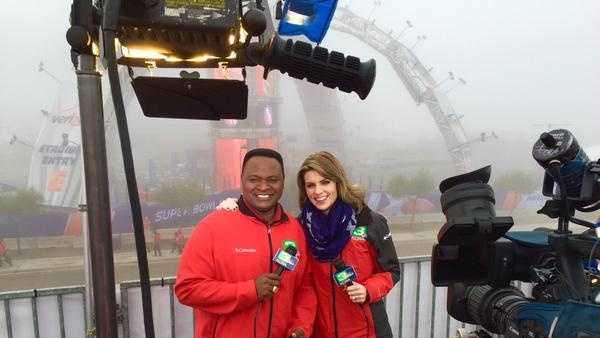 Del Rodgers and Kellie DeMarco had an early wake-up call on Super Bowl Sunday so they could be live on the KCRA 3 Morning News.