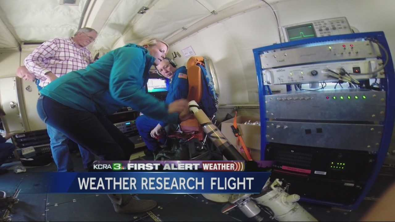 KCRA Meteorologist Tamara Berg takes us inside a P-3 aircraft which is taken up into hurricanes.