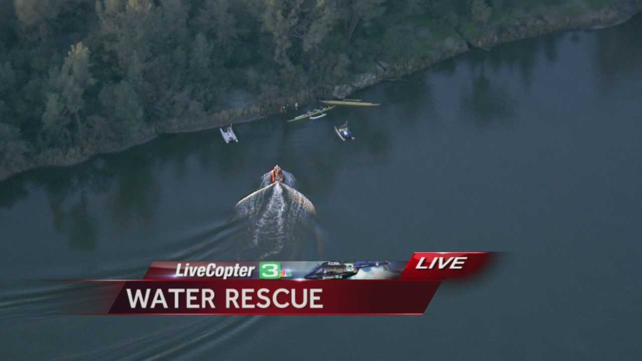A boater was seen receiving medical treatment Monday evening in Sacramento County.
