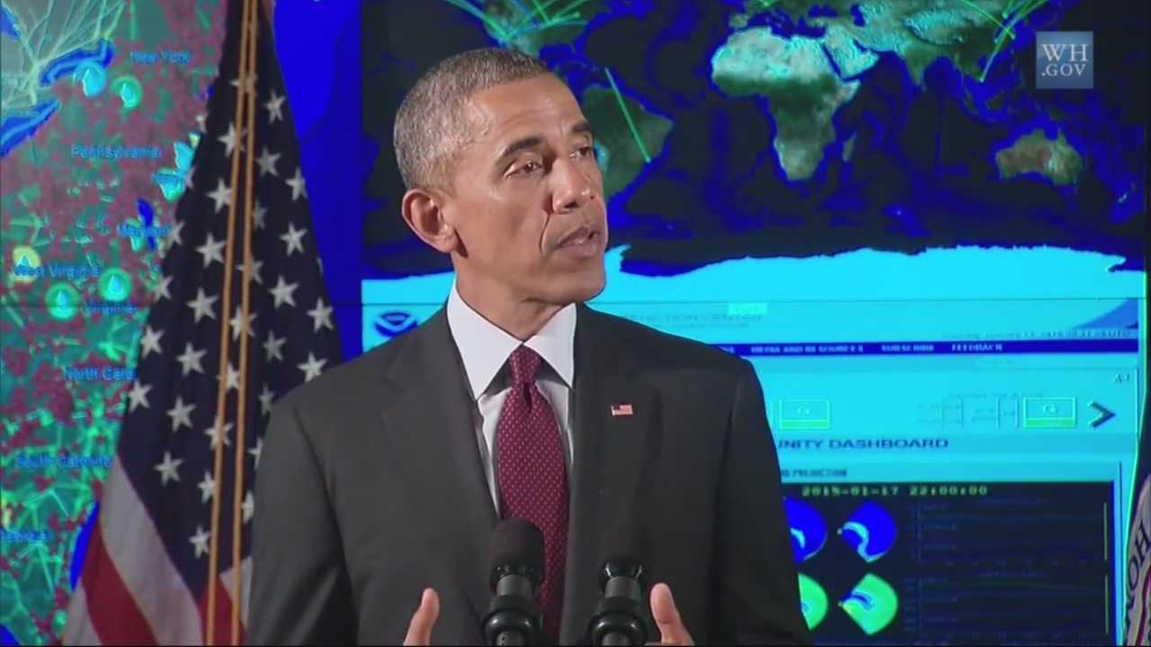 President Obama is in Palo Alto at Stanford University to speak at a cyber summit.