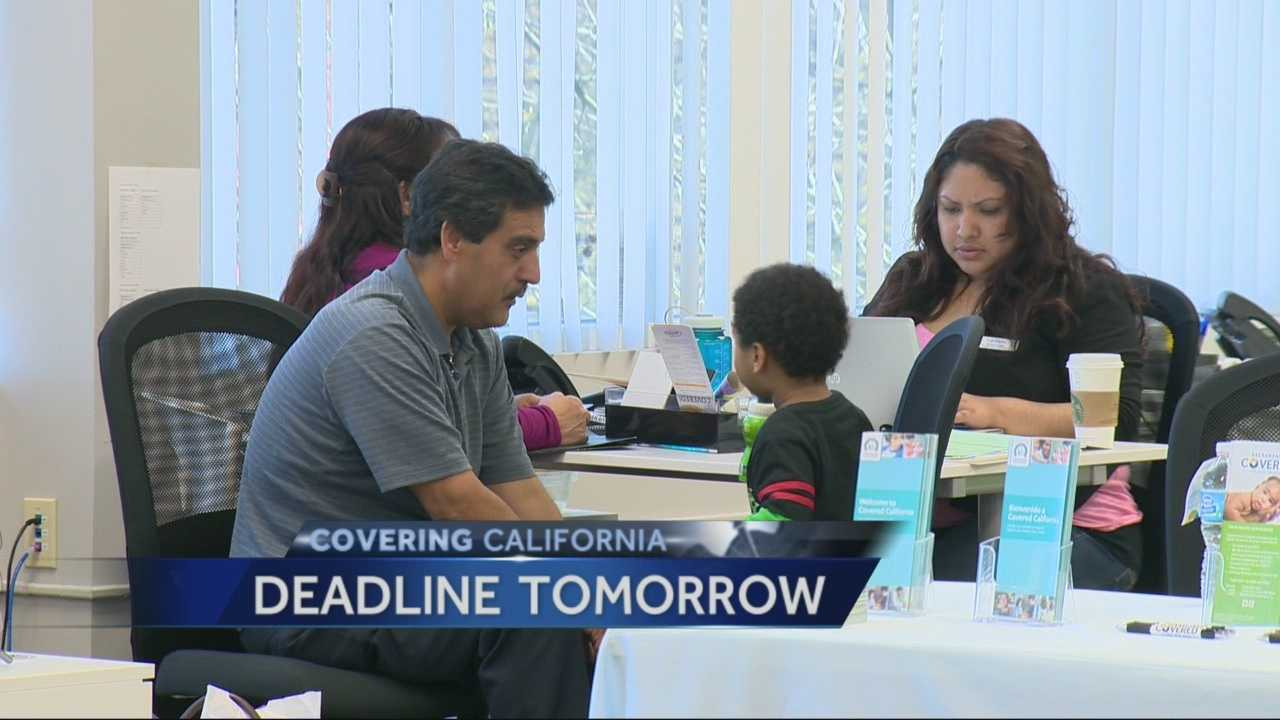 Sunday is the deadline to sign up for health coverage through Covered California.