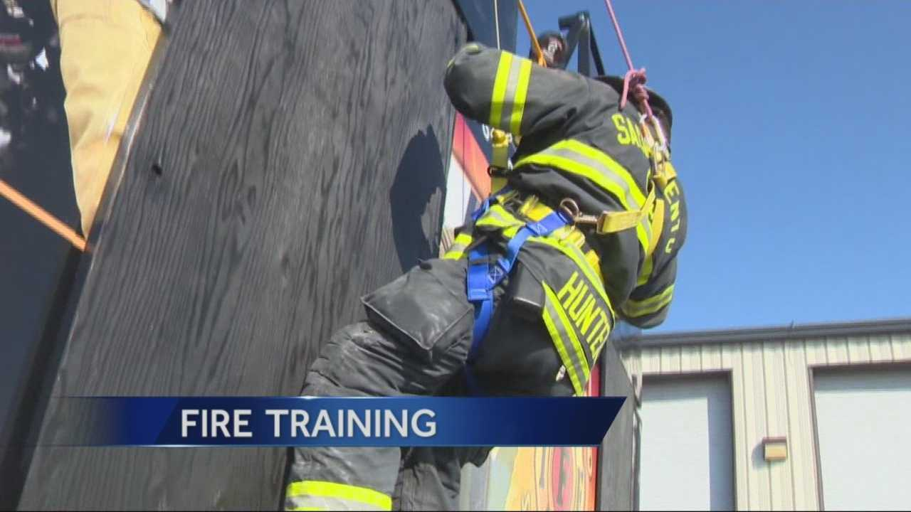 With the help of a Homeland Security grant, firefighters from all over Northern California are in Ceres for special survival fire training (Feb. 18, 2015).