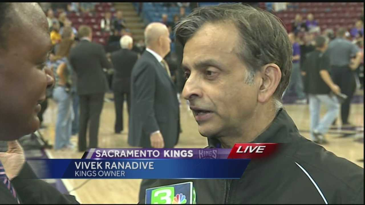 KCRA's Del Rodgers spoke with Kings owner Vivek Ranadive before George Karl's first game as the team's head coach.