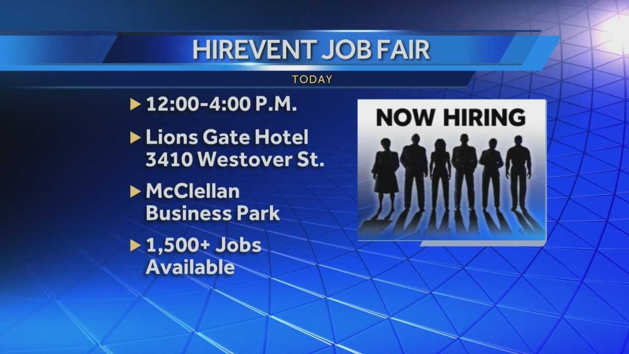 Employers are looking to fill more than 1,500 jobs at a HireEvent in Sacramento.