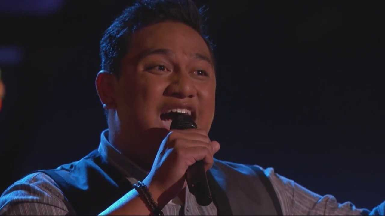 "Joe Tolo, of Sacramento, is representing Team Christina on Season 8 of NBC's ""The Voice."""