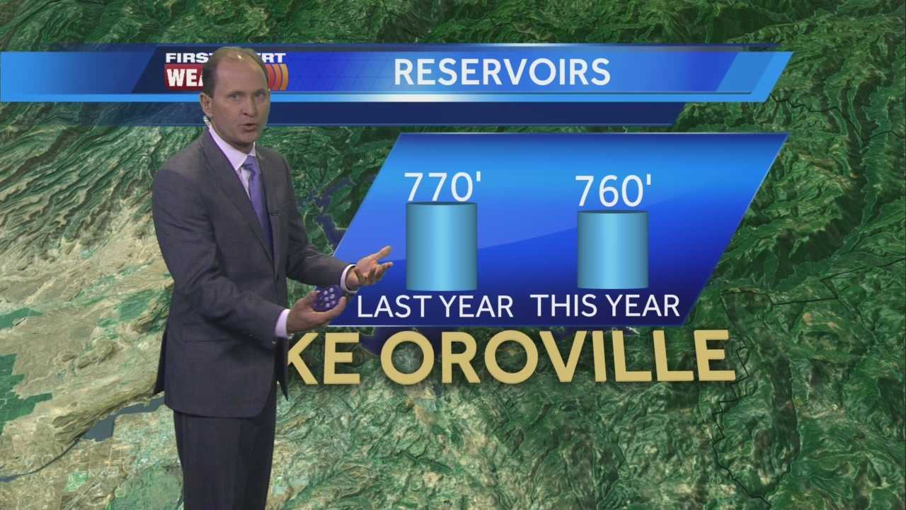 How are the water levels at Northern California's recreational reservoirs? Mark explains.