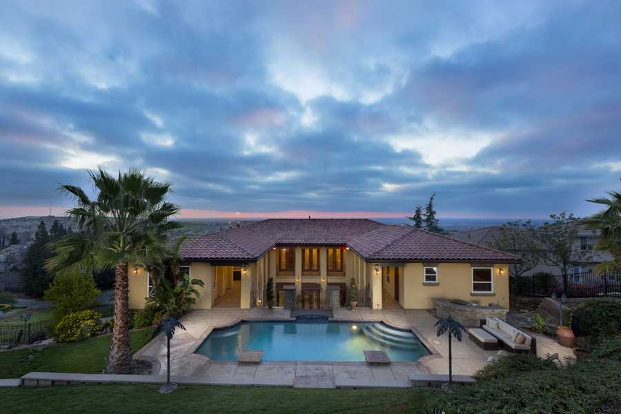 The construction and design of this El Dorado Hills home was inspired by a small resort in the rainforests of Costa Rica.