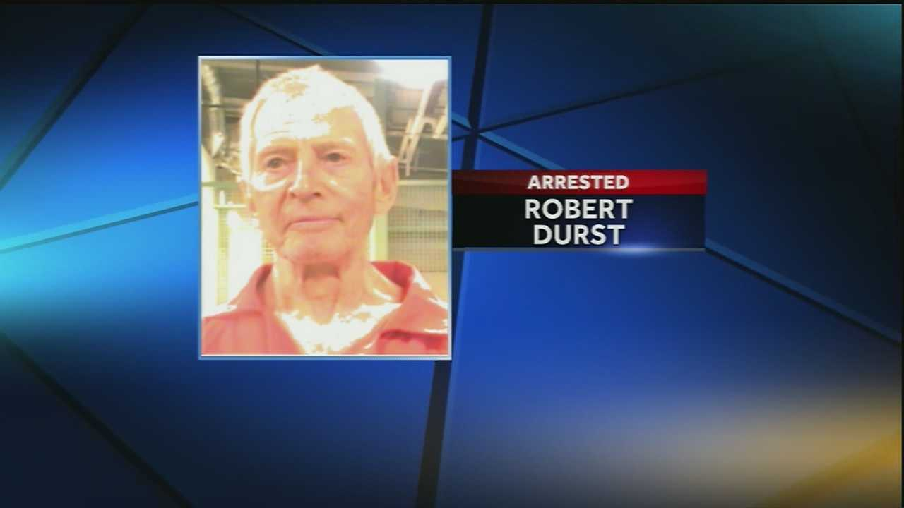 A wealthy real estate heir linked to three killings was arrested on a murder warrant in New Orleans. 71 year old Robert durst was picked up by the FBI Saturday night at the JW Marriott on Canal Street.