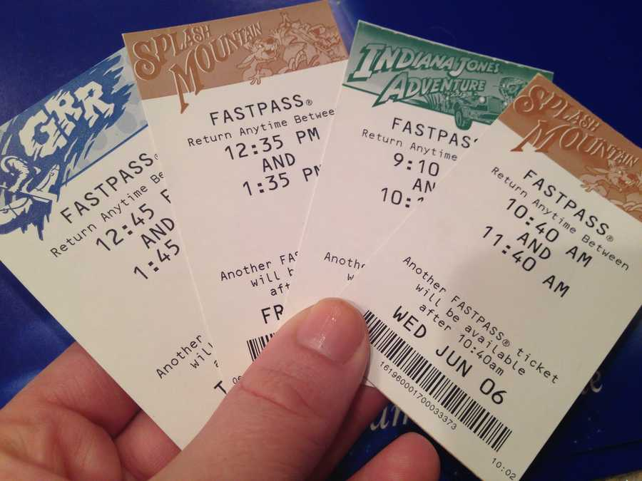 2. Use your FASTPASSes wisely: FASTPASSes are often underused by many people who visit Disneyland, but are a very valuable -- and free -- ticket for speedy ride access. Only a certain number of the major attractions have FASTPASS machines installed. All you have to do is insert your ticket into the machine, and it gives you a 1-hour time slot to return to the ride. When you return, you then jump in a separate line and bypass everyone else who may have been waiting in line for up to an hour.