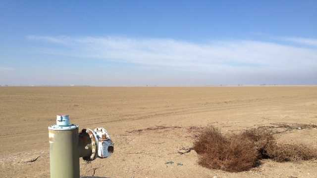 This photo of an agriculture field in Westlands Water District in California's Central Valley.