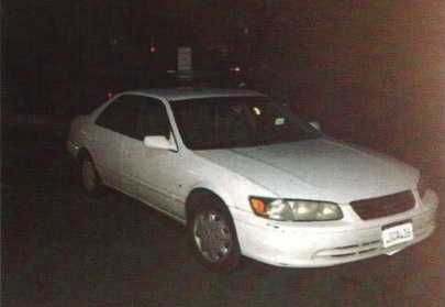 The 2000 Toyota Camry, license plate 4GQA436, that belonged to Huskins was found Monday at an undisclosed location in Vallejo. (March 24, 2015)