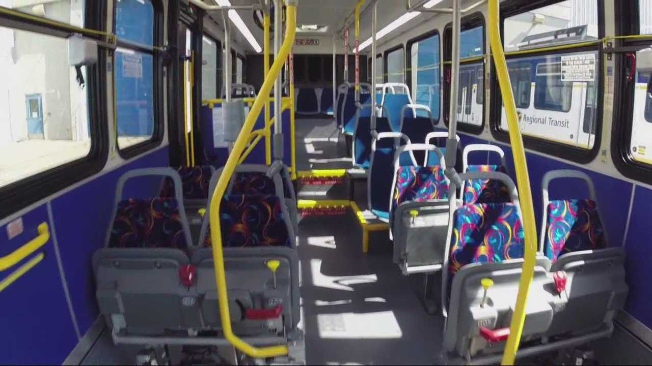 30 natural gas buses will have flip-up seats in the front section for more leg room.