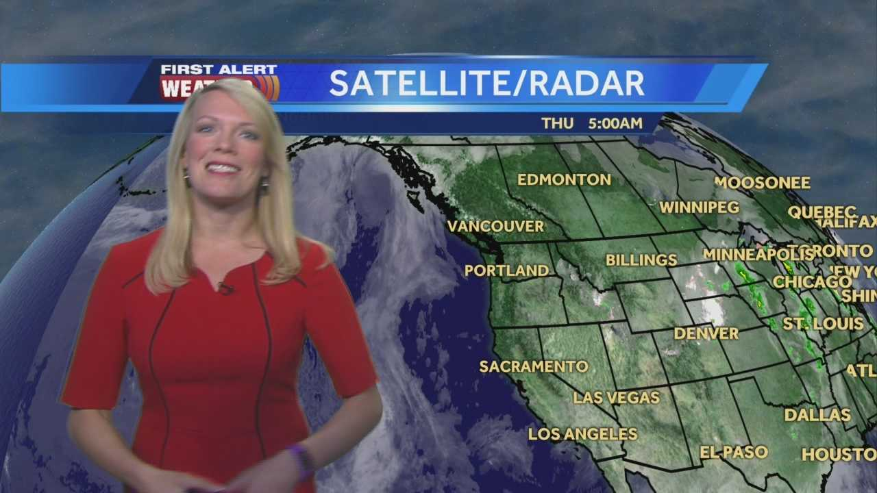 First Alert Weather Meteorologist Tamara Berg shows us what to expect today and into the weekend.